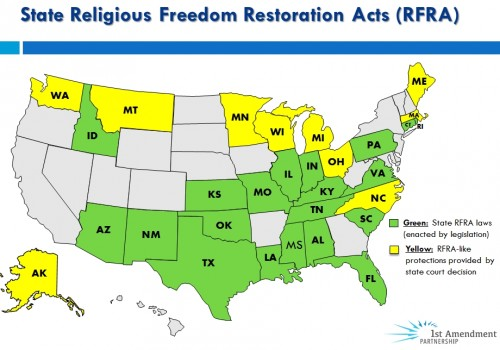 State RFRA Map IN